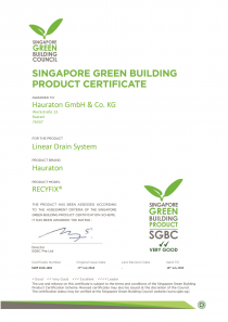 SINGAPORE GREEN BUILDING PRODUCT CERTIFICATE